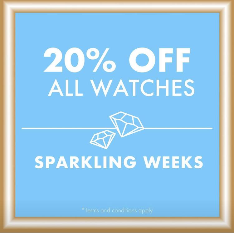 Swarovski – 20% off all watches!