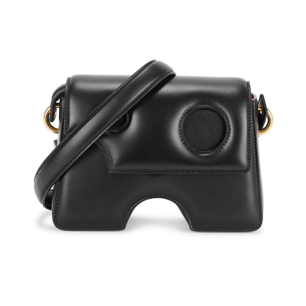 OFF-WHITE_Burrow 22 black leather cross-body bag_£910
