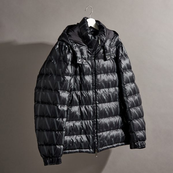 VALENTINO_VLTN Times printed quilted shell jacket_£1,550